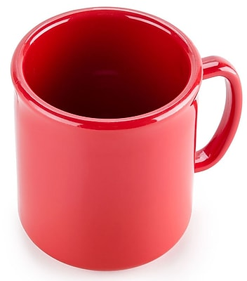 Carlisle 10 oz, 3.25'' PC Stackable Mug, Red