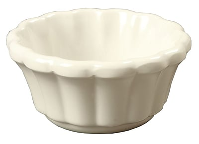 Carlisle 3.2 oz Scalloped Ramekin, Bone