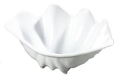 Carlisle 33902 12.6 oz. SAN Small Shell Serving Dish, White