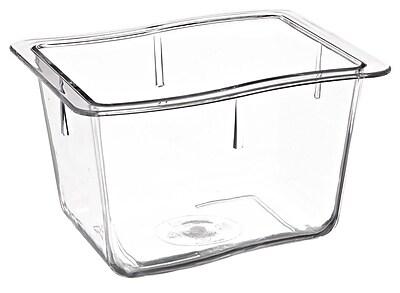 Carlisle 6986407, 5.6 cup, 4'' Deep Third Size Modular Deli Pan, Clear