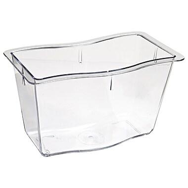 Carlisle 6984607, 13 cup, 6'' Deep Half Size Modular Deli Pan, Clear