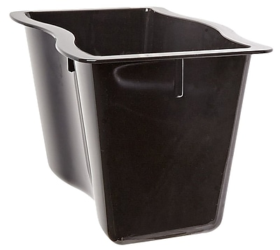 Carlisle 6984603, 13 cup, 6'' Deep Half Size Modular Deli Pan, Black