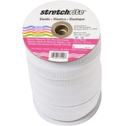 "Non-Roll Flat Elastic 1"" Wide 50 Yards-White"