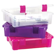 "Creative Options File Tub, 17""X15""X5"", clear/Magenta"