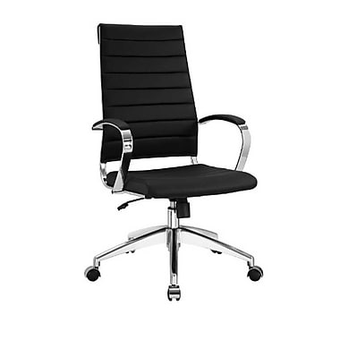 Modway Jive Leather Executive Office Chair, Fixed Arms, Black (848387005719)