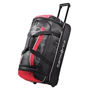 "Samsonite® Andante 32"" Drop Bottom Wheeled Duffle, Black/Red"