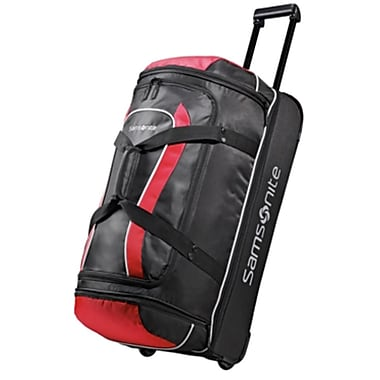 Samsonite Andante 28 Drop Bottom Wheeled Duffle Black Red
