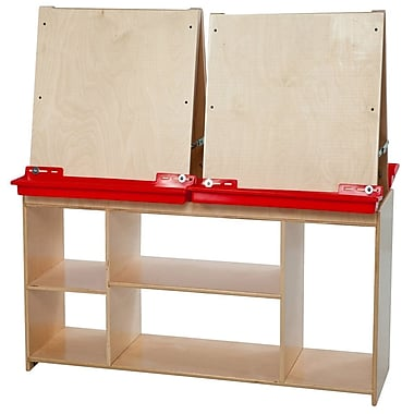 Wood Designs™ Ready to Assemble Art Center For 4 Persons, Birch