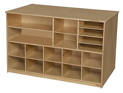 Wood Designs™ Storage Versatile Storage Without Trays, Birch