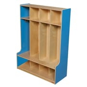 Wood Designs™ Four-Section Seat Locker, Blueberry