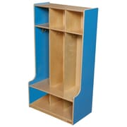 "Wood Designs™ 30""W Three Section Seat Locker, Blueberry"