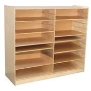 Wood Designs™ Mat Storage Center Shelves, Natural Wood