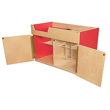 Tot Furniture Deluxe Wood/Veneer Changing Tables, Strawberry Red (WD21050R)