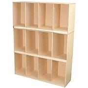 """Wood Designs™ 46""""W Open Stacking Locker, Wood"""