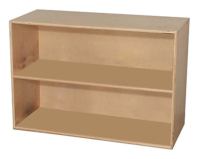 Wood Designs™ Storage Two Shelf Modular Storage, Birch