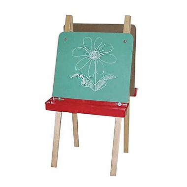 Wood Designs™ Art Double Adjustable Easel With Chalkboard, Birch