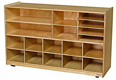 Wood Designs™ Storage Shelving Storage Without Trays, Birch