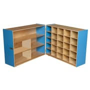 """Wood Designs™ 36""""H Tray and Shelf Fold Storage Without Trays, Blueberry"""