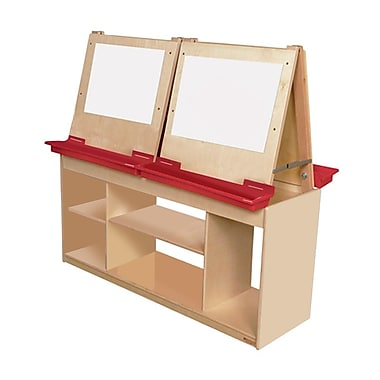 Wood Designs™ Art Center With Brown Tray For 4 Persons, Birch
