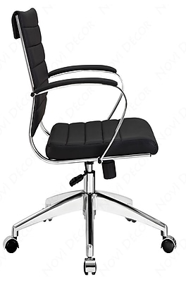 Modway Jive Faux Leather Executive Office Chair, Fixed Arms, Brown (848387005764)