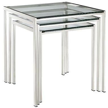 Modway Nimble Tempered Glass Nesting Table