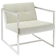 Modway Hover Padded Vinyl Lounge Chair, White