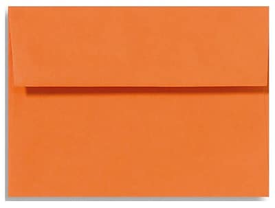 LUX A6 Invitation Envelopes (4 3/4 x 6 1/2) 500/Box, Mandarin (EX4875-11-500)