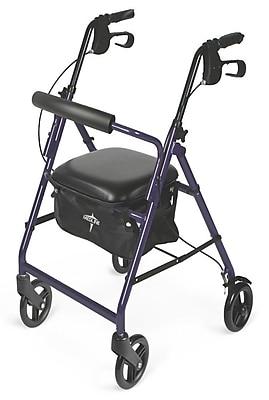 Medline® 250 lbs. Capacity Basic Comfort Rollators, Purple