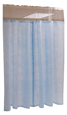 Medline® Disposable Mesh Free Cubicle Curtain Panel, Light Blue, 60