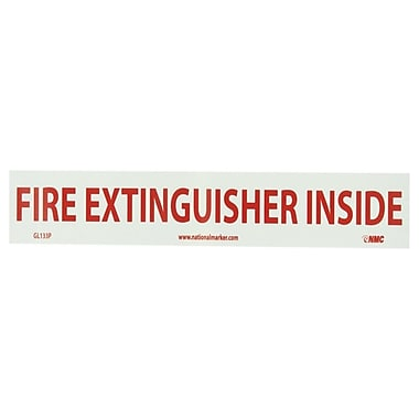 Fire, Fire Extinguisher Inside, 2X16, Adhesive Vinylglow