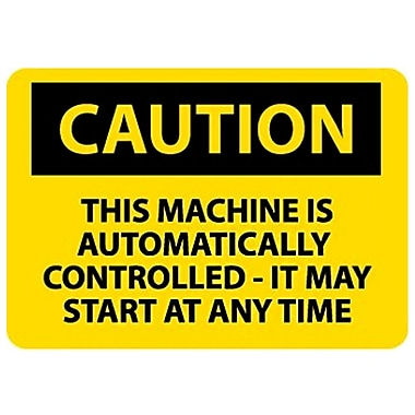 Caution, This Machine Is Automatically Controlled It May Start At Any Time, 10