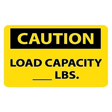 Caution, Load Capacity__Lbs., 10X14, Adhesive Vinyl