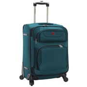 "SwissGear® 20"" Carry-On Spinner Upright Luggage Suitcase, Teal With Black Accent"
