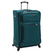 "SwissGear® 28"" Spinner Upright Luggage Suitcase, Teal With Black Accent"