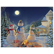 LANG® Boxed Christmas Cards With Envelopes, Moonlit Snowmen