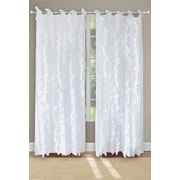 Greenland Home Fashions Waterfall Solid Sheer Tab Top Curtain Panels (Set of 2)