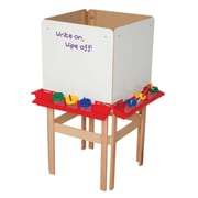 Wood Designs Adjustable Flipchart Easel; Marker Board