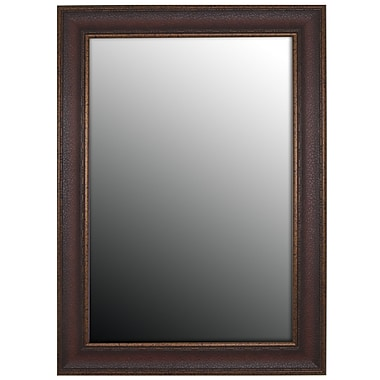 Second Look Mirrors Copper Embossed Bronze Wall Mirror; 42''H x 30''W x 1.5''D