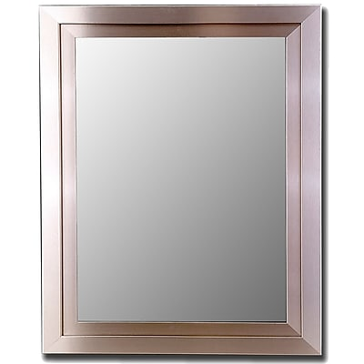 Hitchcock Butterfield Company Satin Brushed Nickel Silver Wide Wall Mirror
