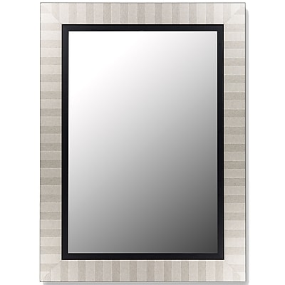 Hitchcock Butterfield Company Parma Silver and Satin Black Wall Mirror; 48'' H x 38'' W