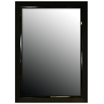 Second Look Mirrors Glossy Black Stepped Petite Wall Mirror; 59.25''H x 23.25''W x 1''D