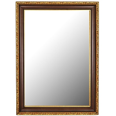 Second Look Mirrors Chateau Antique Cherry Gold Accents Wall Mirror; 66.25''H x 30.25''W x 2''D