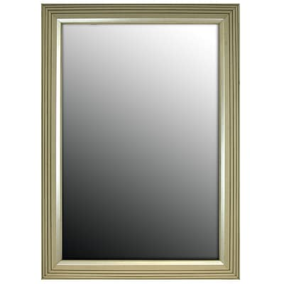 Second Look Mirrors Stepped Vintage Silver Petite Wall Mirror; 35.25''H x 17.25''W x 1.5''D