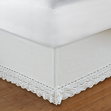 Greenland Home Fashions Crochet Lace 126 Thread Count Bed Skirt; Full