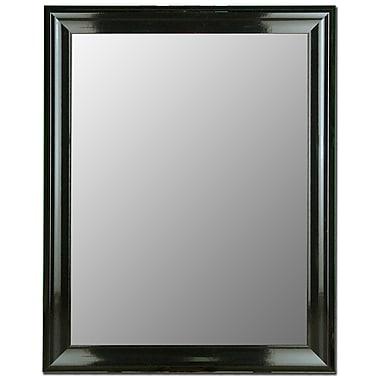 Hitchcock Butterfield Company Glossy Black Grande Wall Mirror; 56'' H x 44'' W