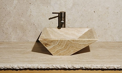 Allstone Group Irregular Stone Rectangular Vessel Bathroom Sink