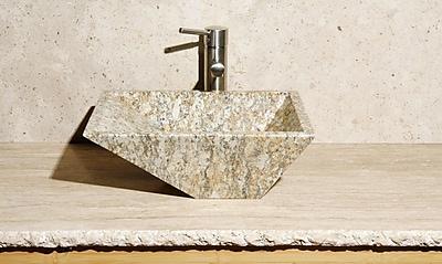 Allstone Group Irregular Stone Rectangular Vessel Bathroom Sink
