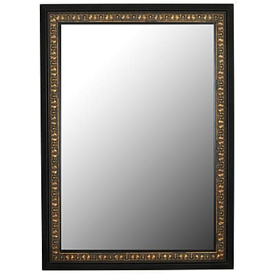 Second Look Mirrors Mumbai Vintage Copper Black Surround Wall Mirror; 59.5''H x 23.5''W x 1.5''D