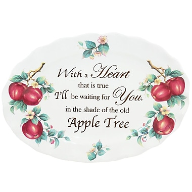 Kaldun & Bogle Apple Sentiments 18.5'' Oval Platter