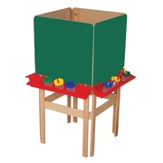 Wood Designs Adjustable Flipchart Easel; Chalk Board